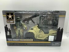 Official U.S. Army Tri-Wheeler Soldier Assault Action Figure PlaySet - Brand New