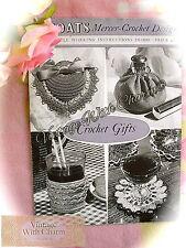 50s Vintage Crochet Pattern 6 Projects Lavender Sachet Purse Glass Jacket Etc
