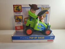 Fisher-Price Disney Pixar Toy Story 4 RC and Woody Pop-Up Racer NEW