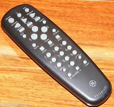 Genuine GE Universal (074319) Solid Black TV/VCR Remote Control w/ Battery Cover