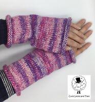 Handmade 94% brushed cotton ladies wrist warmers