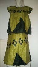Robe T36/38 ensemble étnique robe+haut jupe vintage veste cuir escarpin sac