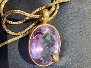 STEPHEN DWECK One of A Kind  Huge Amethyst Pendant necklace with chain GORGEOUS