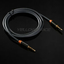 1M Meter OFC 3.5mm Stereo plug male to male Gold Audio IPOD AUX MP3 Cable cord