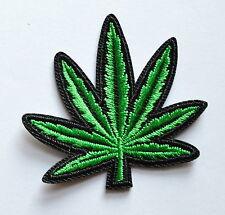 100x Pot Leaf Ganja Weed Retro Boho Hippie Lique Iron On Patch Sm