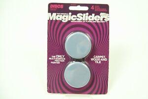 Magic Sliders 4 pack  2 In. Discs Self Adhesive Furniture Glide (NEW)