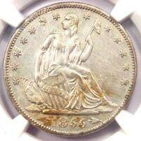 1855-S Arrows Seated Liberty Half Dollar 50C - NGC AU Details - Rare Coin!