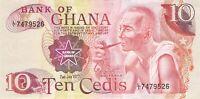 Ghana 10 Cedis 1977 P16 - Free Combine Low Shipping