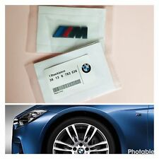 2x /// M Sport BLACK Emblem M Badge Side BMW Wing M Power sticker Chrome Metal