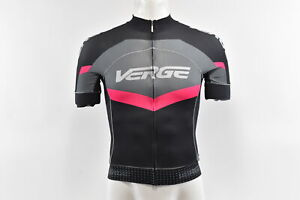 Verge Women's 2XL Primo Power S/S Cycling Jersey, Black/Grey/Fuschia New