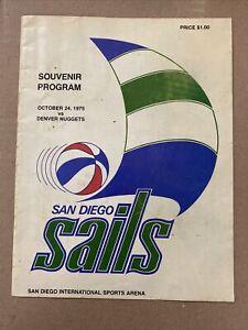 San Diego Sails Program October 24, 1975 1st Home Game