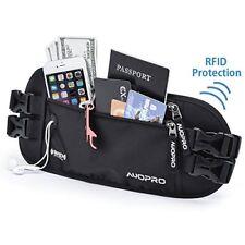 Cinturón de dinero de viaje auopro paquete de la cintura, Impermeable Correr Riñonera Bloqueo de RFID PA