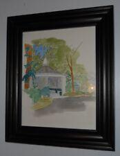 The Gazebo - St Marys College Signed Original Watercolor By Ken David Framed