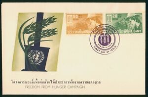 Mayfairstamps Thailand 1963 Freedom From Hunger Campaign First Day Cover wwp7961