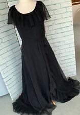 VERA MONT Black Evening Dress Ballgown Sz 12 - 14 UK Cruise Formal / b18