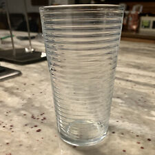 KIG 10 oz Vintage Clear Ribbed Drinking Glass Juice Glass - 1 Available