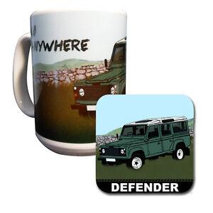 Land Rover Defender Big Mug & Coaster Set
