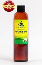 PEANUT OIL UNREFINED ORGANIC by H&B Oils Center COLD PRESSED PREMIUM PURE 8 OZ