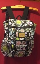 "NWT $99. JUICY COUTURE  BACKPACK  FLORAL MULTI 18"" X 13"" SCHOOL COLLEGE TRAVEL"