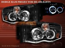02 03 04 05 DODGE RAM 1500 HALO LED PROJECTOR HEADLIGHTS G3 BLACK