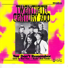 TWENTIETH CENTURY ZOO You Don't Remember M- 45 RPM P/C M-