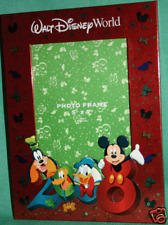 Disney World 2008 Collectible Souvenir Characters Photo Frame Hold 5 X 7 Pic New