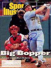 Mark McGwire Oakland A's SIGNED Sports Illustrated COA!