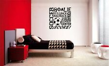 SOCCER COLLAGE SUBWAY LETTERING DECAL WALL VINYL DECOR STICKER ROOM SPORTS KIDS