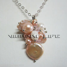 4-15mm White Peach Pink Freshwater Pearl Pendant P1S AC