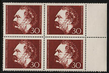 1966 Germany Set Sc#968 Mi#528 Margin Blocks MNH VF