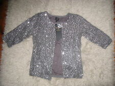 BNWT KATE MOSS SILVER SEQUIN CARDIGAN/JACKET 8 TOPSHOP