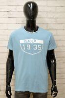Maglia Uomo BLAUER Taglia Size XXL Maglietta Shirt Man Manica Corta Blu Cotone