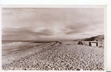 Wales Postcard - The Beach - Llanrhystyd - Real Photograph - Ref 1214A