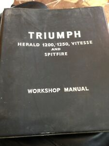 VINTAGE TRIUMPH HERALD 1200,1250, VITESSE AND SPITFIRE WORKSHOP MANUAL