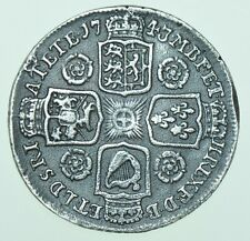 More details for 1743 george ii shilling, roses in angles, british silver coin ef