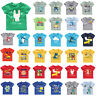 Baby Kids Boy Cartoon Printed T shirt Short Sleeve O-Neck Summer Casual Tee Tops