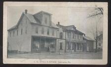 POSTCARD DALMATIA PENNSYLVANIA PA I.E. STILL'S GENERAL STORE  1906