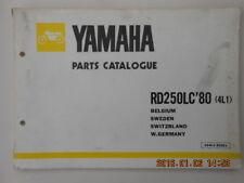 yamaha   .  rd250lc  . 250 rdlc . 4li . parts catalogue