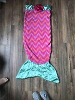 Snuggie Tails Blanket PINK MERMAID ~ Fits Most Kids ~ Super-Soft ~