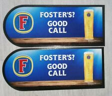 2 X Fosters Bar Runner Beer Mat Towel  Man Cave Home Bar Pub
