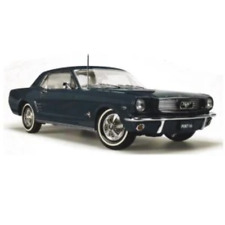 Classic Carlectables 18702 1:18 Ford Mustang Pony 1966 Car Model - Nightmist Blue