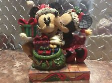 Jim Shore A Christmas Kiss Disney's Santa Mickey And Minnie Mouse 4009120