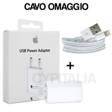 CARICA BATTERIA Caricatore ORIGINALE PER APPLE IPHONE 5 6 7 8 X MD813 + CAVO USB