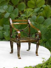 Miniature Dollhouse FAIRY GARDEN Furniture ~ Rustic Antiqued Tin Chair