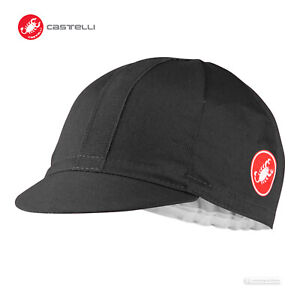 Castelli ESPRESSO Cycling Cap : BLACK/BLACK - One Size
