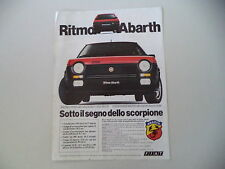 advertising Pubblicità 1982 FIAT RITMO ABARTH 125 TC