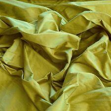 "Kiwi Iridescent Dupioni Silk, 100% Silk Fabric, 44"" Wide, By The Yard (S-144)"