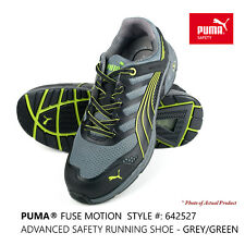 PUMA® Fuse Motion Men's Composite Toe Safety Work Shoe Trainer 642527 Grey/Green