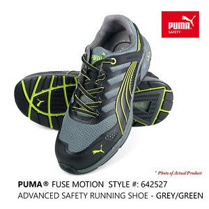 PUMA® Fuse Motion Men's Composite Toe Safety Work Shoe Trainer 642527 Grey/Green