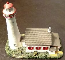 "Lefton Miniature Lighthouse - Sturgeon Point, Mi - 4"" X 4"" - Ex"